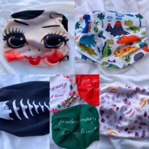 masti textile colorate